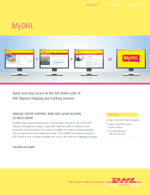 dhl tracking - Fillable & Printable Templates to Download in