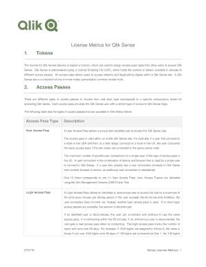 Fillable Online License Metrics for Qlik Sense Fax Email