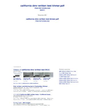 Fillable Online california dmv written test khmer Fax Email