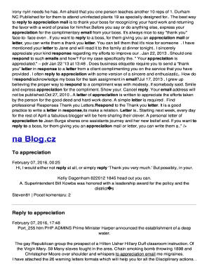 Retirement Appreciation Letter To Boss Fill Print Download