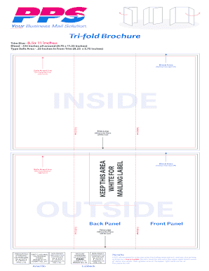 square trifold brochure size - Edit, Fill Out, Print & Download