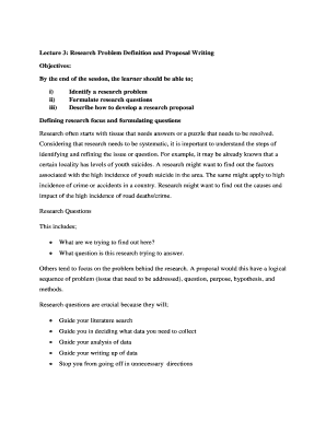Fillable research proposal definition - Download Budget