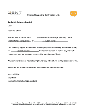 Complete editable financial support letter for student visa form financial supporting confirmation letter thecheapjerseys Gallery