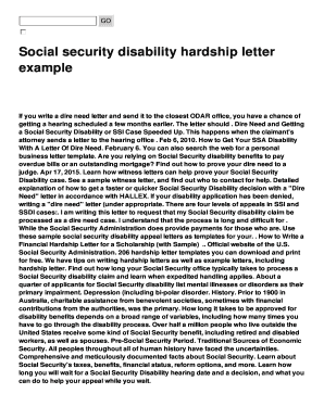 Social Security Disability Appeal Letter Sample