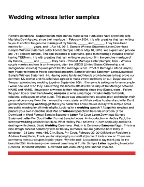 Sample witness statement letter fill out online forms templates wedding witness letter samples altavistaventures Gallery