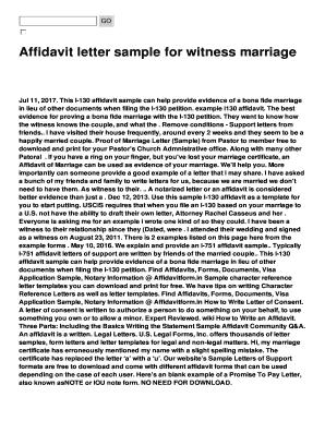 Fillable online affidavit letter sample for witness marriage fax fill online altavistaventures Image collections