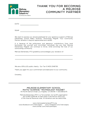 thank you letter for business partnership - Edit, Print, Fill Out