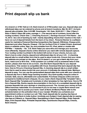 photo regarding Us Bank Deposit Slip Printable referred to as Print deposit slip us financial institution Fill On the internet, Printable, Fillable