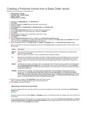 how to prepare a proforma invoice
