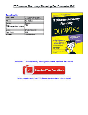 it disaster recovery planning for dummies pdf fill online printable