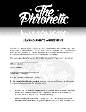 Editable Non Exclusive Beat Contract Template Fill Print