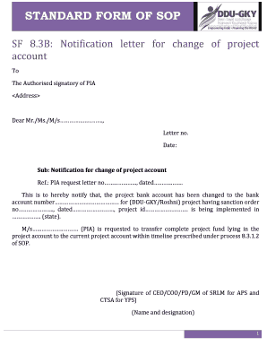 bank account signature change letter