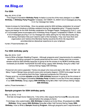 program script for 50th birthday