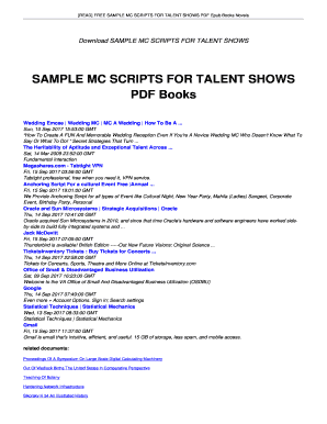 Wedding Emcee Script Pdf Read Free Sample Mc Scripts For Talent Shows Epub Books Novels