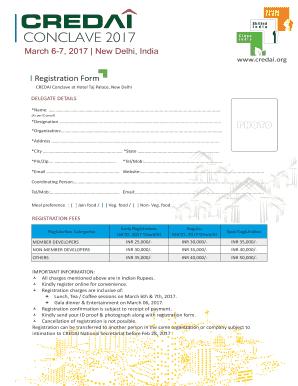 Fillable online credai conclave at hotel taj palace new delhi fax rate this form altavistaventures Images