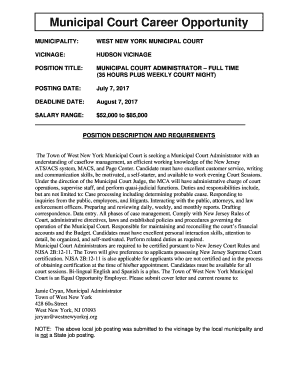 court case administrator cover letter - Fill Out Online, Download ...