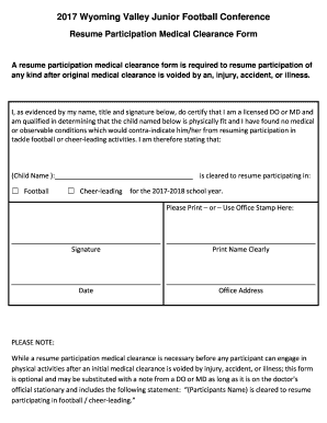 Printable medical clearance requirements - Edit, Fill Out & Download on printable medical examination form, printable dental clearance form, printable medical consent form, medical history form, criminal background check form, doctors clearance form, printable veterinary dental charts, printable medical leave form, printable medical insurance form, medical clearance for surgery form, dental medical release form, dental medical clearance form, printable nursing assessment forms, physical form, stent for surgery clearance form,