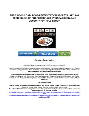 Food Presentation Secrets Pdf