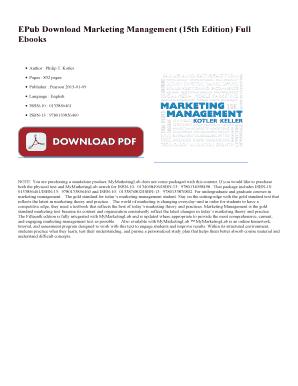 Marketing Management 15th Edition Pdf