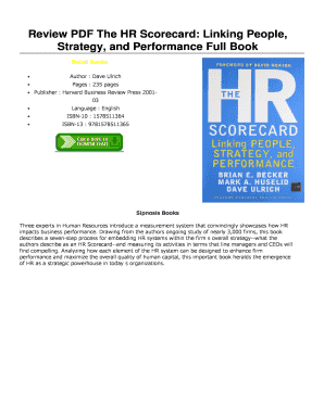 review pdf the hr scorecard linking people