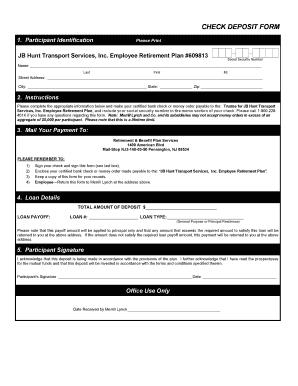 Fillable Online JB Hunt Transport Services, Inc Fax Email Print