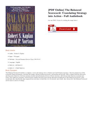 Kaplan download scorecard balanced and norton ebook