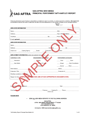 Fillable Online SAG-AFTRA NEW MEDIA Fax Email Print - PDFfiller
