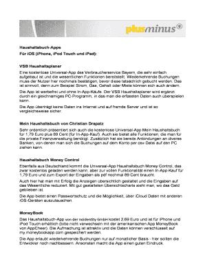 Fillable Online Haushaltsbuch Apps Fax Email Print Pdffiller