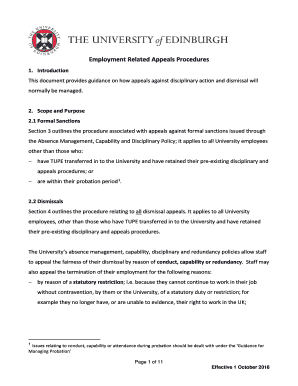 Employment Related Appeals Procedures Fill Online Printable