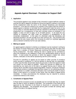 Appeal letter sample fill print download online resume appeals against dismissal procedure for support staff spiritdancerdesigns Images