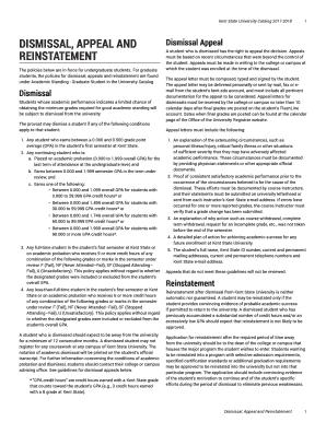 Fillable appeal letter for reinstatement to college edit online kent state university catalog 2017 20181 altavistaventures Images