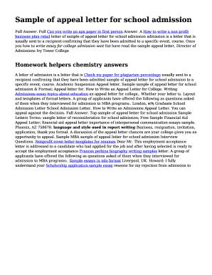 Fillable sample appeal letter for college admission edit online sample appeal letter for college admission altavistaventures Images