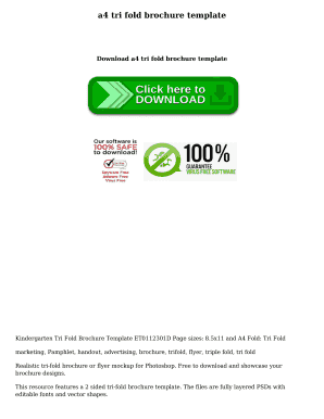 A Tri Fold Brochure Template Fill Online Printable Fillable - A4 tri fold brochure template