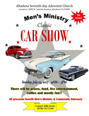 Car Show Flyer Cdr SoCal Car Culture Fill Online Printable - Blank car show flyer
