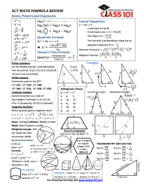 gcse maths formula sheet pdf