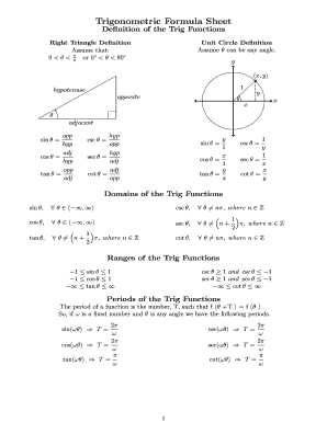 Printable trigonometric formulas pdf free download Forms and