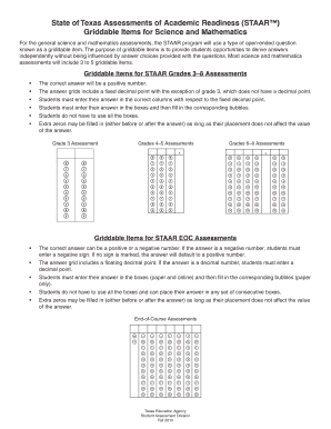 staar griddable - Edit & Fill Out Online Templates, Download