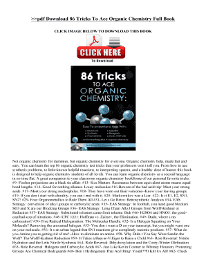 86 Tricks To Ace Organic Chemistry Pdf - Fill Online, Printable