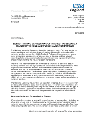 Reference Letter Nhs Template
