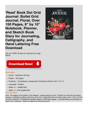 Fillable bullet journal or planner - Edit, Print & Download