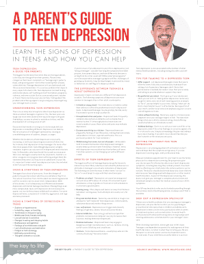 Printable depression case study example teenager Templates to Submit