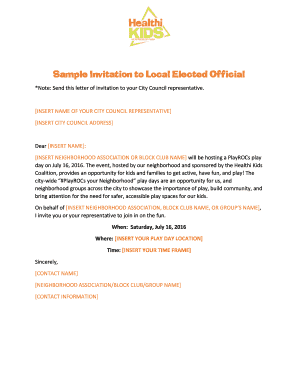 Sample invitation letter to elected official printable sample invitation to local elected official stopboris Image collections
