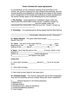 Editable Texas Lease Agreement Pdf Fill Out Print