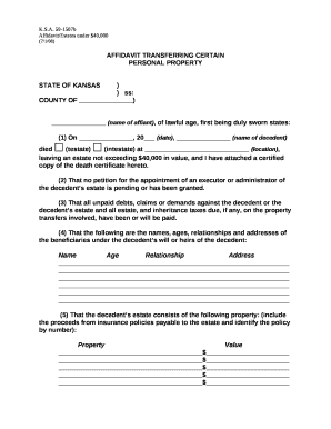 photo regarding Free Printable Small Estate Affidavit Form known as free of charge little estate affidavit type - Fillable Printable