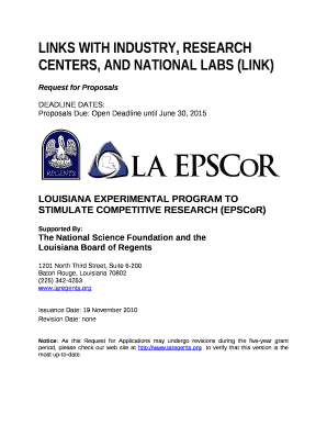 LOUISIANA EXPERIMENTAL PROGRAM TO STIMULATE COMPETITIVE RESEARCH (EPSCoR)