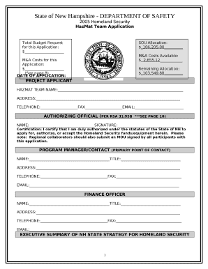 State of New Hampshire - DEPARTMENT OF SAFETY Doc Template
