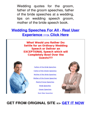 Printable funny groom speech template - Fill Out & Download Online