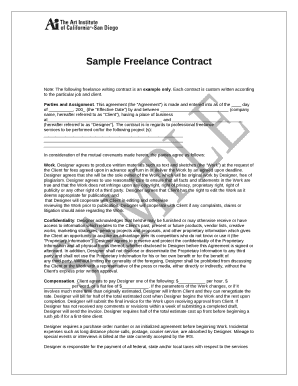 sample freelance contract