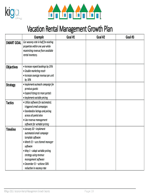 Fillable goal setting for managers examples - Edit, Print