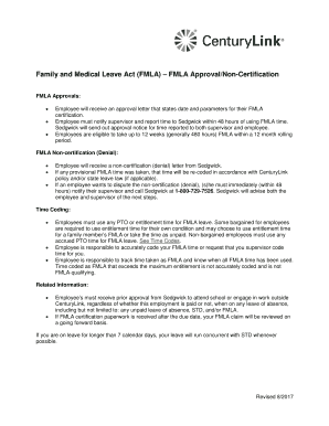 fmla approval letter to employee   Samples & Document Templates to